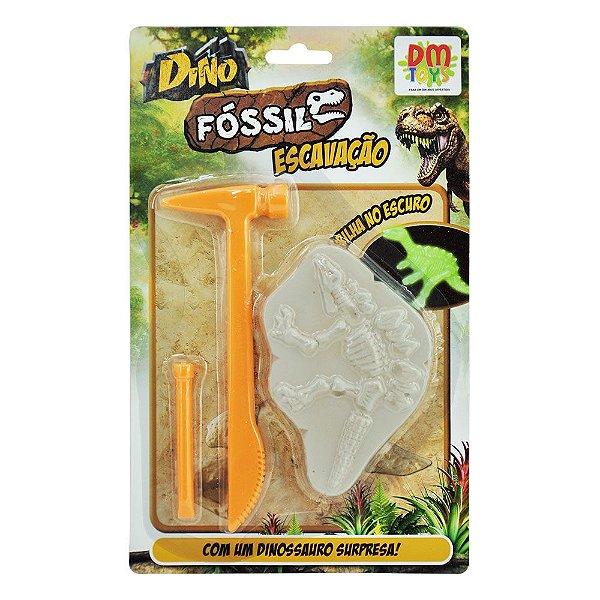 Kit Escavação Dinossauro Picareta p/ Escavar Escavador Infantil