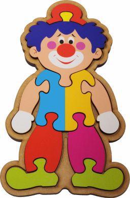 Quebra-Cabeça do Palhacinho Brinquedo Educativo em Madeira