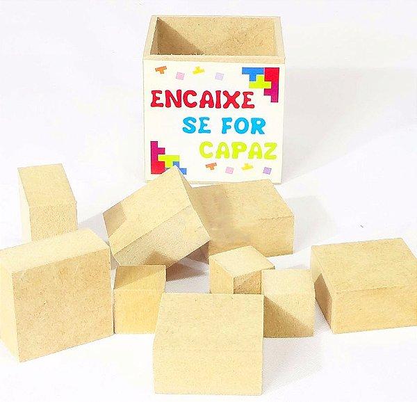 Quebra-Cabeça ENCAIXE SE FOR CAPAZ em Madeira Puzzle