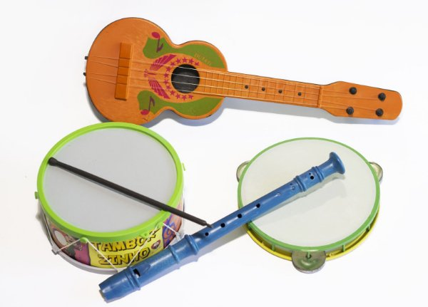 Kit Musical Bandinha c/ 4 Instrumentos Educativo infantil