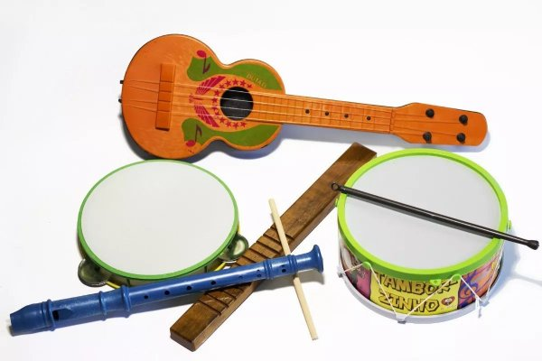 Kit Musical Infantil Bandinha c/ 5 Instrumentos Educativo