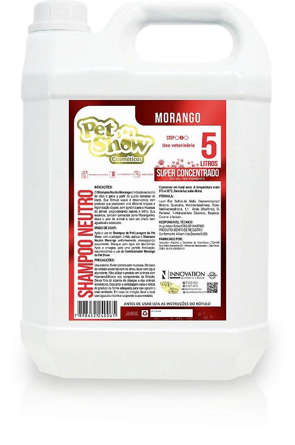 SHAMPOO NEUTRO MORANGO 5L - PET SHOW