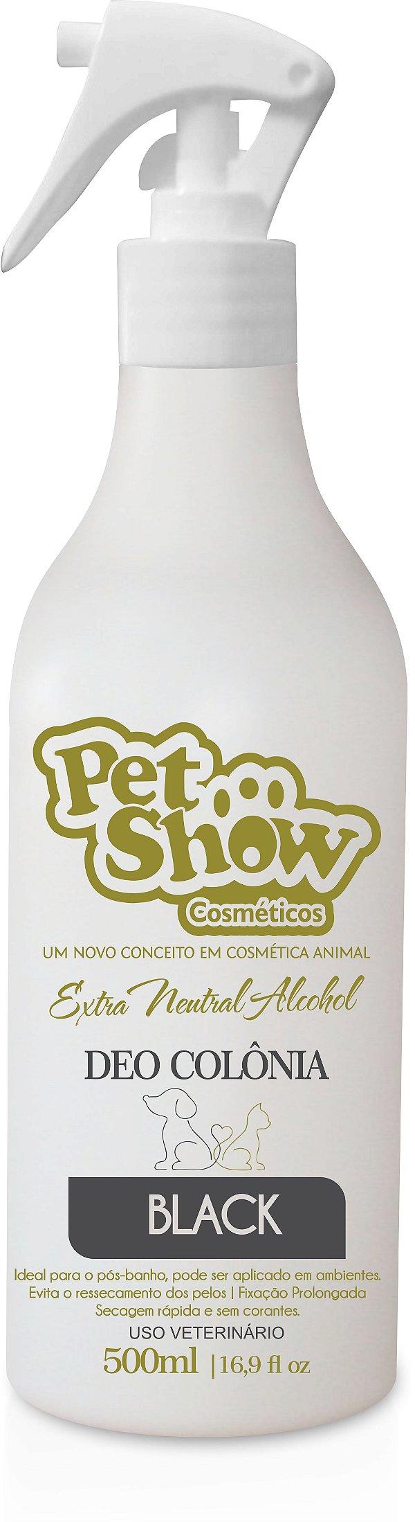 DEO COLONIA BLACK 500 ML - PET SHOW