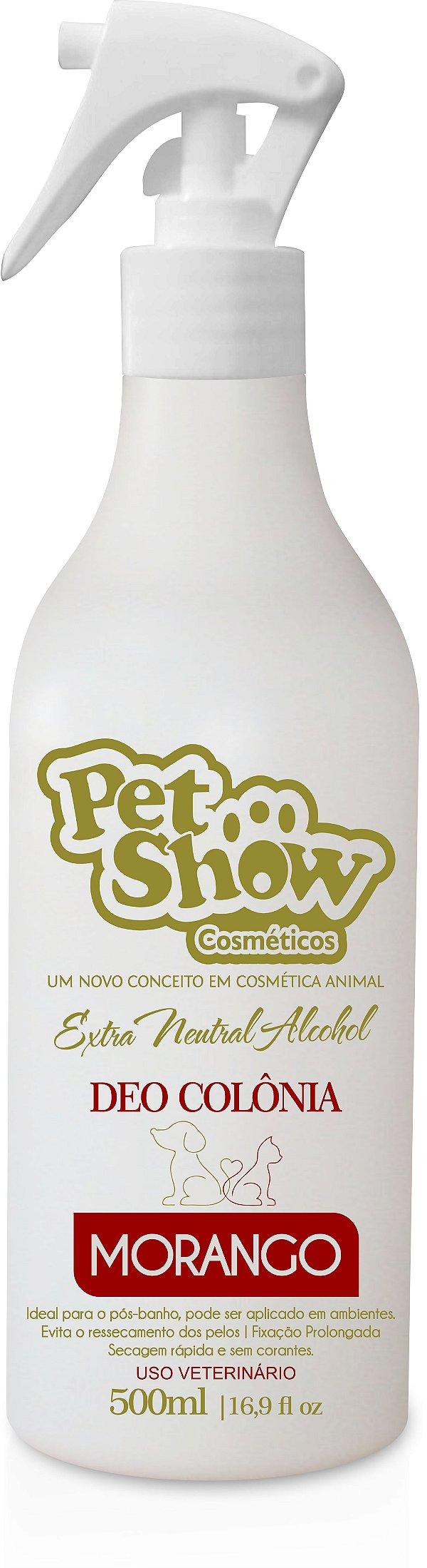 DEO COLONIA MORANGO 500ML - PET SHOW