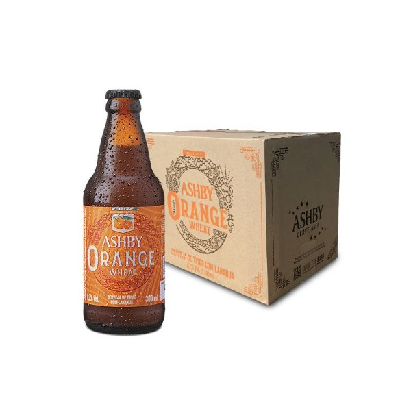 CERVEJA ASHBY ORANGE WHEAT - CAIXA C/ 12