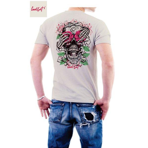 Camiseta Cool Cat Roses Skull