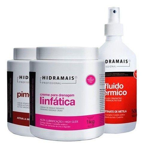 Kit Fluido Termico + Pimenta Negra + Drenagem Linfatica