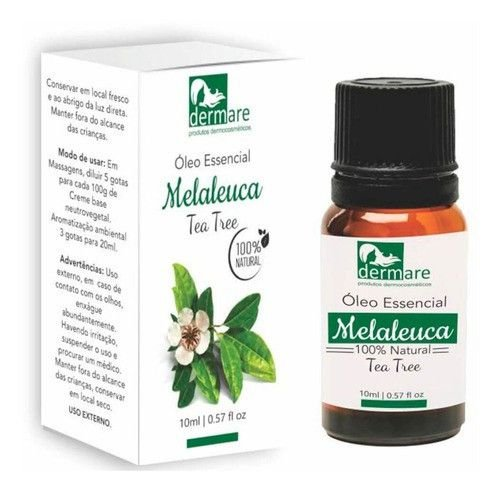 Oleo Essencial De Melaleuca Tea Tree 10ml Dermare