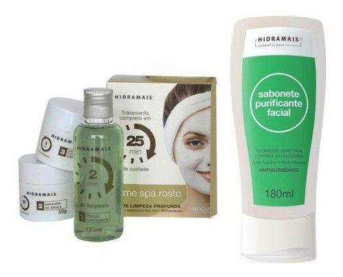 Kit Home Spa Facial + Sabonete Purificador Facial 180 Ml