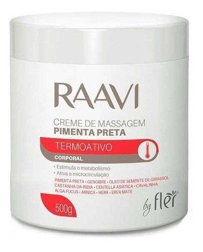 Creme De Massagem Raavi Pimenta Preta 500g