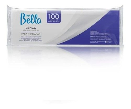 Depil Bella Lenço Gran Style Em Fibra Natural 100 Folhas