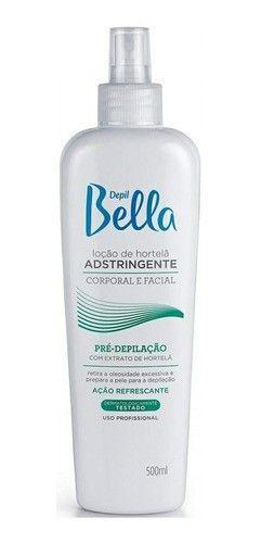 Loção Hortelã Adstringente Pre-depilação Depil Bella 500ml