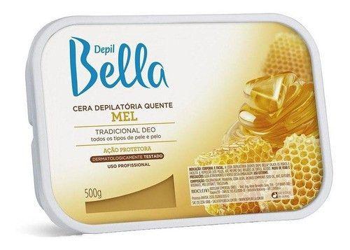 Cera Depilatoria De Mel Depil Bella - 500g