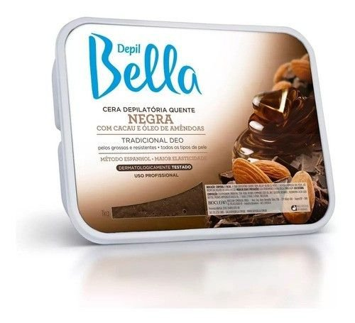 Cera Depil Bella Barra 1Kg Negra