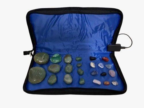 Kit Para Massagens Com Pedras Quentes Quartzo Verde 110v