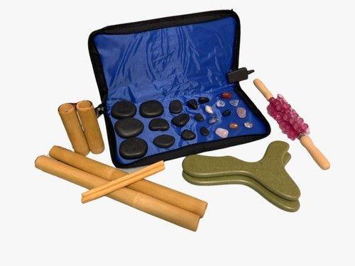 Kit Massagens Com Pedras Quentes Basalto 110v Completo