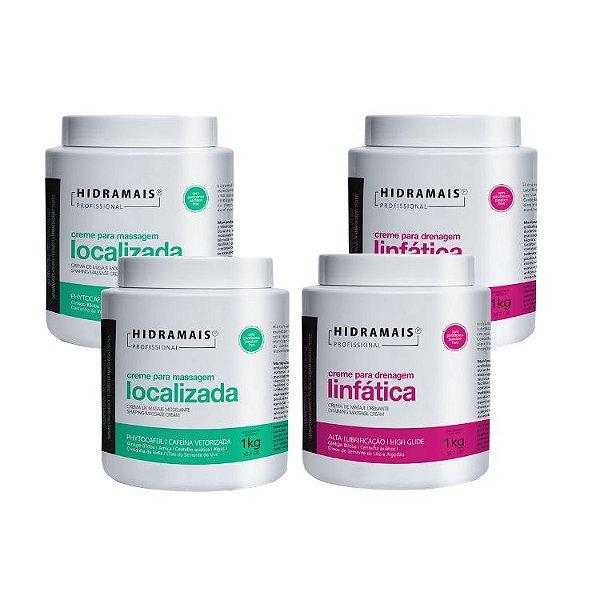 Kit Hidra 3 Linfatica 2 Localizada 1 Slim Detox 1 Esfoliante