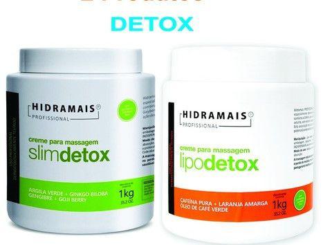 Kit Creme Detox Lipodetox Slimdetox Celulite Hidramais
