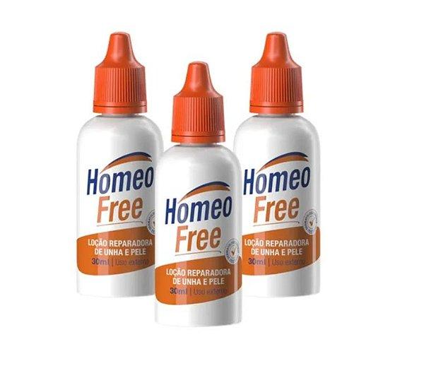 3 Homeofree Loção Reparadora Unha Contra Micoses E Frieiras