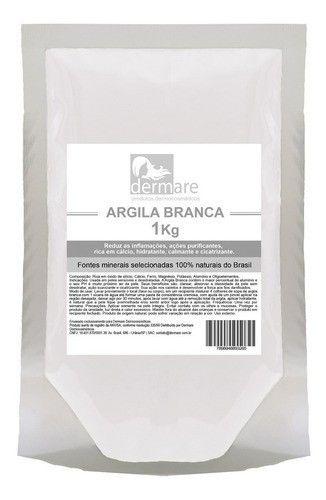 Argila Branca 1kg - Dermare