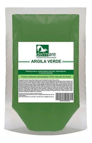 Argila Facial E Corporal Estetica Verde 1kg Dermare