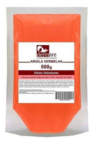 Argila Vermelha 500g - Dermare Cosmeticos