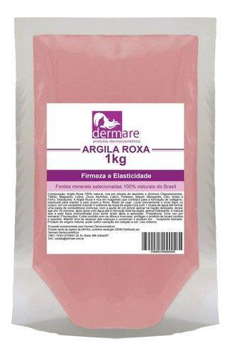 Argila Roxa 1kg - Dermare (clareadora E Rica Em Magnesio)