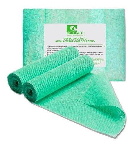 Gesso Lipolitico Argila Verde C/ Colageno 5 Unidades Dermare