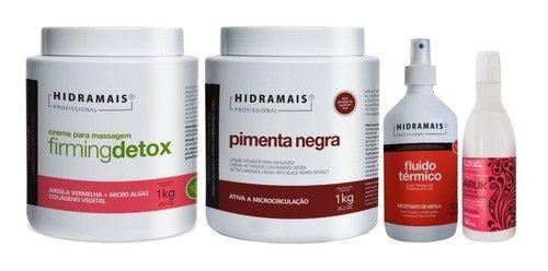 Kit P. Negra+firmingdetox+fluido Termico+oleo Rosa Mosqueta