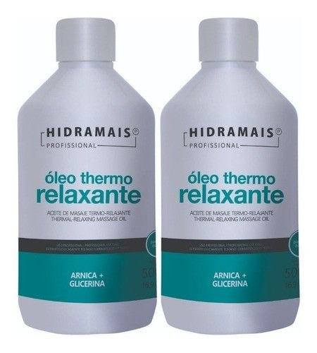 Oleo Massagem Thermo Relaxante Hidramais 500ml - 2 Unidades