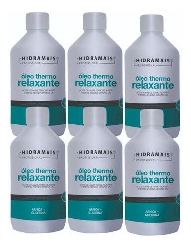 Oleo Massagem Thermo Relaxante Hidramais 500ml - 6 Unidades