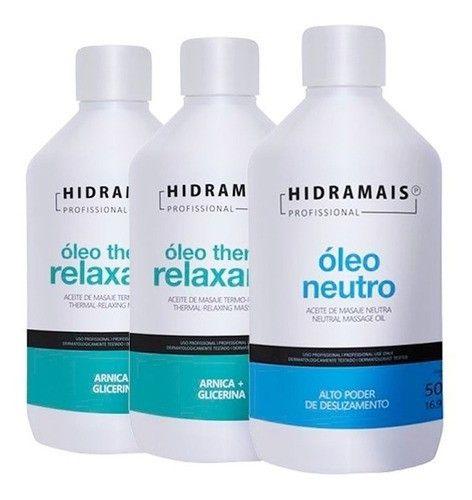 1 Oleo Neutro + 2 Thermo Relaxante Hidramais 500ml Cada