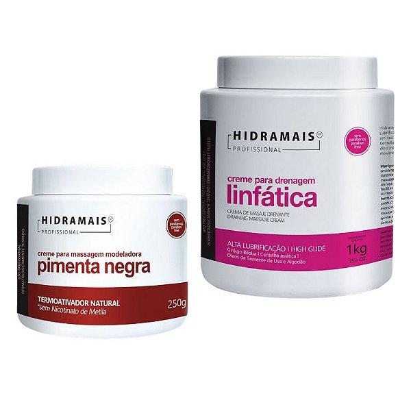 Kit Hidramais 1 Pimenta Negra 250g + 1 Drenagem Linfatic 1kg