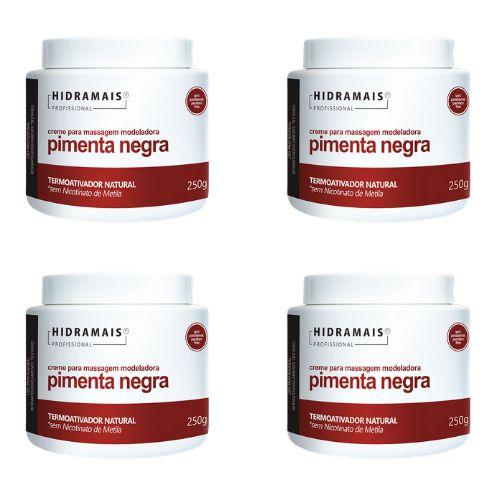 Kit Hidramais Com 4 Cremes Pimenta Negra 250g