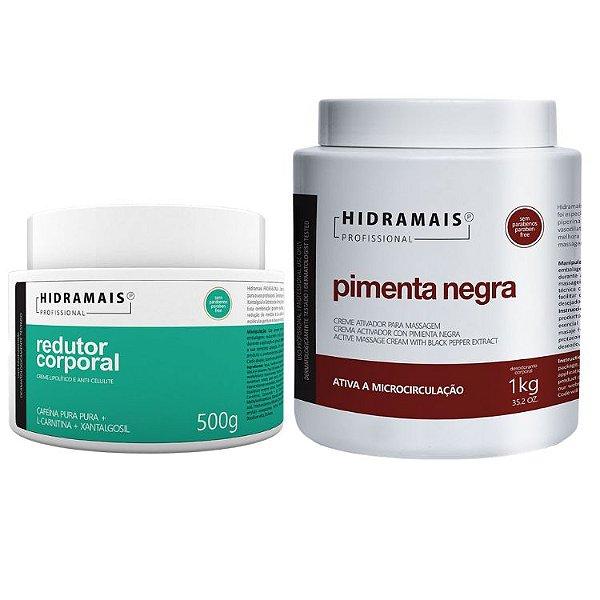 Kit Hidramais 1 Redutor Coporal 500g + 1 Pimenta Negra 1kg
