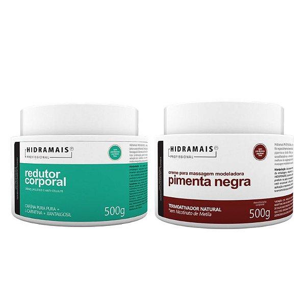 Kit Hidramais 1 Redutor Coporal 500g + 1 Pimenta Negra 500g