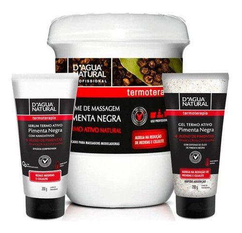 Serum Termo Ativo + Gel Termo Ativo + Creme Pimenta Negra