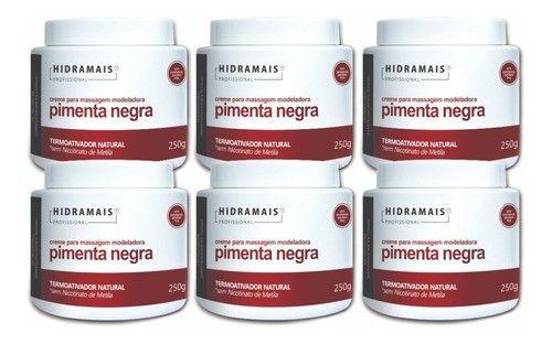 Kit Hidramais 6 Cremes Pimenta Negra 250g