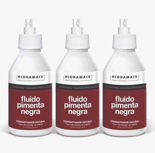 Fluido Pimenta Negra 250ml Hidramais - 3 Unidades