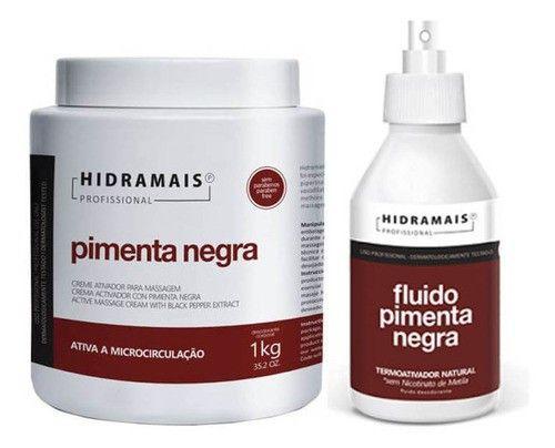 Kit Pimenta Negra Creme + Fluido Termo Ativo Hidramais