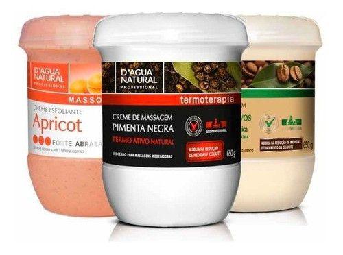 Kit Pimenta Negra + Cafeina 7 Ativos + Apricot Forte Abrasao