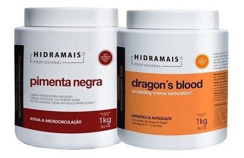 Kit Hidramais 1 Dragons Blood 1 Kg + 1 Pimenta Negra 1 Kg