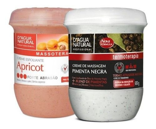 Kit Esfoliante Apricot Forte E Pimenta Negra Dagua Natural
