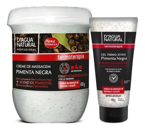 Creme Pimenta Negra 650g + Gel Pimenta Negra 200g