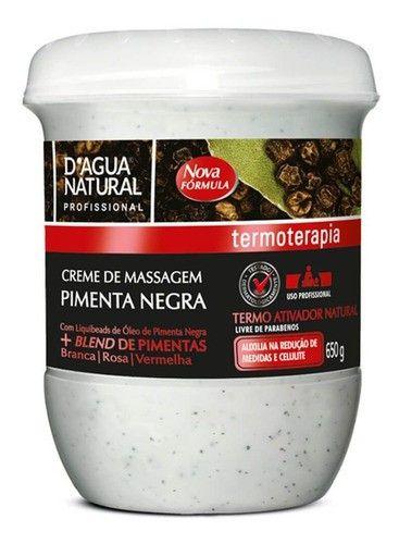 Creme Pimenta Negra Massagem Corporal Dagua Natural