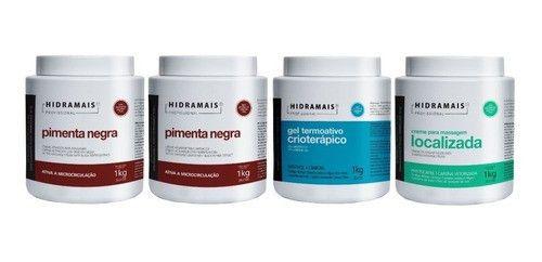 Kit Hidramais 2 Pimenta Negra+lipotermico+localizada 1 Kg
