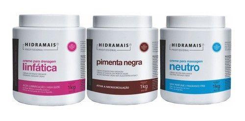 Kit Hidramais Pimenta Negra+drenagem Linfatica+neutro 1kg