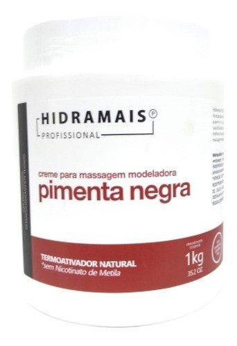 Hidramais Creme P/ Massagem Pimenta Negra Termoativador Natu