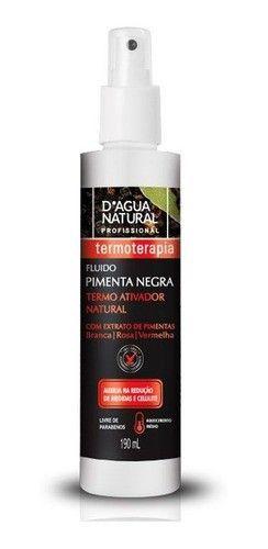 Fluido Termo Ativador Pimenta Negra Dagua Natural 190ml
