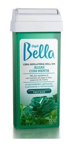 Refil Cera Depilatoria Roll-on Depil Bella 100g Algas 12 Un